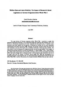 Welfare State and Labor Mobility - CiteSeerX
