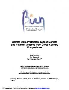 Welfare State Protection, Labour Markets and Poverty: Lessons from ...