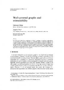 Well-covered extendability graphs and - Semantic Scholar