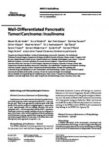 Well-Differentiated Pancreatic Tumor/Carcinoma ... - NET-kanker