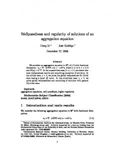 Wellposedness and regularity of solutions of an ... - Semantic Scholar