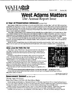 West Adams Matters - West Adams Heritage Association