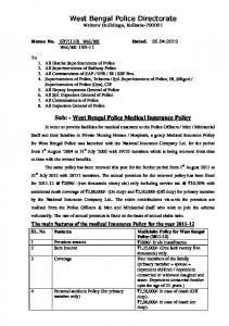 West Bengal Police Medical Insurance Policy