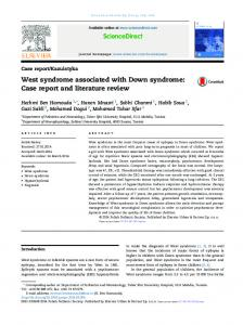 West syndrome associated with Down syndrome