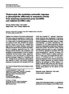 Western-style diet modulates contractile responses to phenylephrine ...