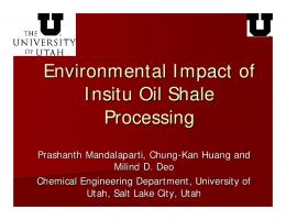 Western US Oil Sands and Insitu Processes