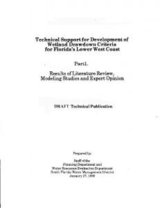 Wetland Hydrology Literature Review