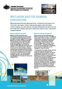 Wetlands and the Ramsar Convention