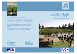 Wetlands of Ethiopia - Centre for Wetlands, Environment and ...