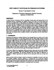 wettability of steam-water-rock systems