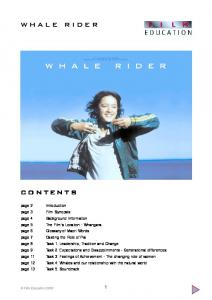 Whale Rider study guide - Film Education