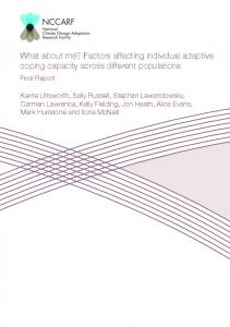 What about me? Factors affecting individual adaptive coping capacity ...