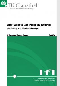What Agents Can Probably Enforce