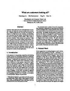 What are customers looking at? - CiteSeerX