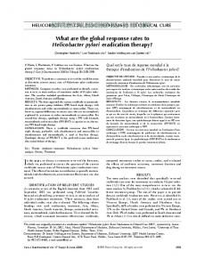 What are the global response rates to Helicobacter pylori ... - Hindawi