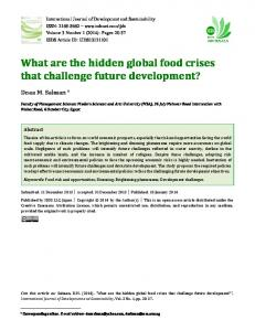 What are the hidden global food crises that challenge future ...