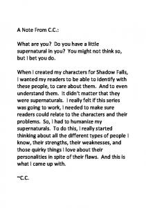 What are you? Do you have a little supernatural in you? - CC Hunter