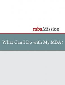 What can I do with my MBA?