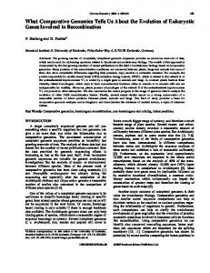 What Comparative Genomics Tells Us About the Evolution of ...