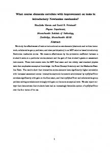 What course elements correlate with improvement on tests in ...