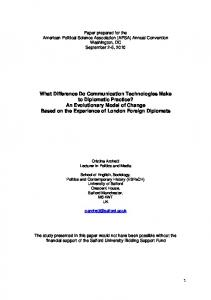 What Difference Do Communication Technologies Make to ... - SSRN