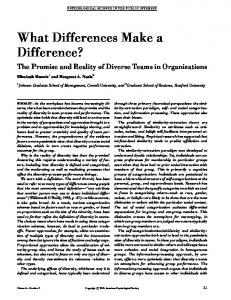 What Differences Make a Difference? - Semantic Scholar