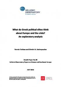 What do Greek political elites think - LSE