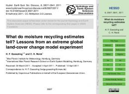 What do moisture recycling estimates tell?