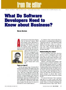 What Do Software Developers Need to Know about Business?