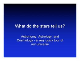 What do the stars tell us?