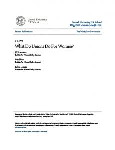 What Do Unions Do For Women?