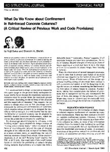 What Do We Know about Confinement in Reinforced ...