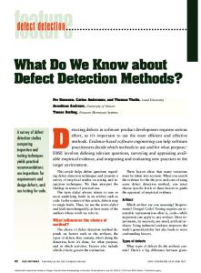 What Do We Know about Defect Detection ... - Semantic Scholar