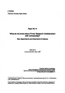 What do we know about Firms' Research ...