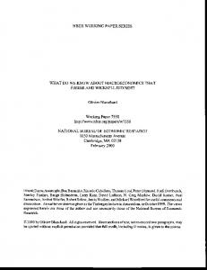 What do we know about Macroeconomics that Fisher and Wicksell ...