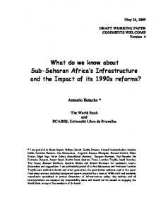 What do we know about Sub-Saharan Africa's ... - CiteSeerX