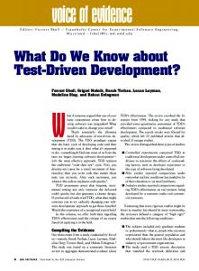 What Do We Know about Test-Driven Development? - IEEE Computer ...