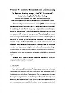 What do We Learn by Semantic Scene Understanding for Remote ...