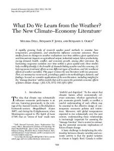 What Do We Learn from the Weather? - American Economic Association