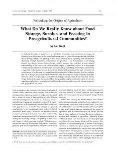 What Do We Really Know about Food Storage ...