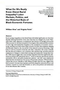 What Do We Really Know About Racial Inequality? - SAGE Journals