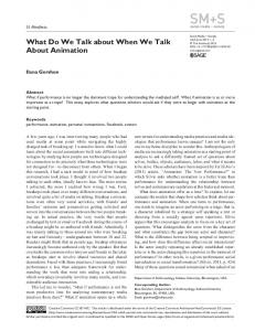 What Do We Talk about When We Talk About ... - SAGE Journals