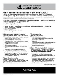 What documents do I need to get my EDL/EID?