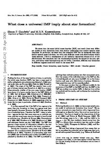 What does a universal IMF imply about star formation?