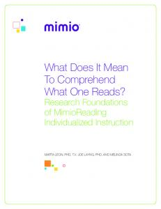 What Does It Mean To Comprehend What One Reads? - Scholastic