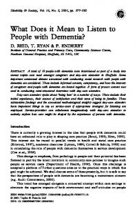 What Does it Mean to Listen to People with Dementia?