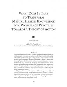 what does it take to transform mental health