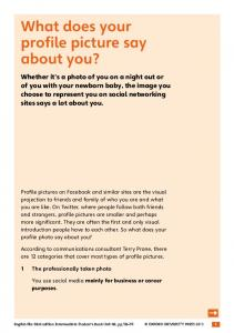 What does your profile picture say about you? - Oxford University ...