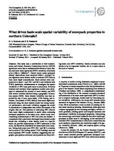 What drives basin scale spatial variability of ... - The Cryosphere