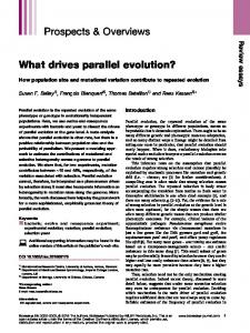 What drives parallel evolution? - Wiley Online Library